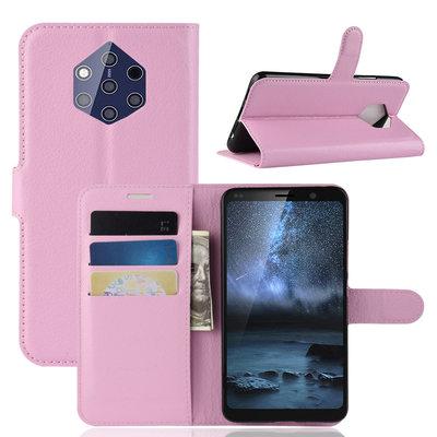 Nokia 9 PureView hoesje, 3-in-1 bookcase, lichtroze