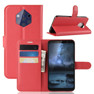 Nokia 9 PureView hoesje, 3-in-1 bookcase, rood