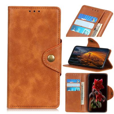 Samsung Galaxy A70 hoesje, 3-in-1 bookcase, cognac bruin
