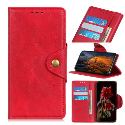 Samsung Galaxy A50 hoesje, 3-in-1 bookcase, rood