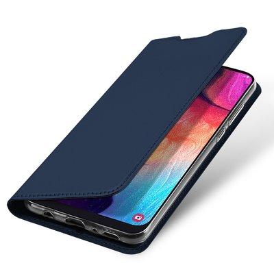 Samsung Galaxy A50 hoesje, slim fit bookcase, navy blauw