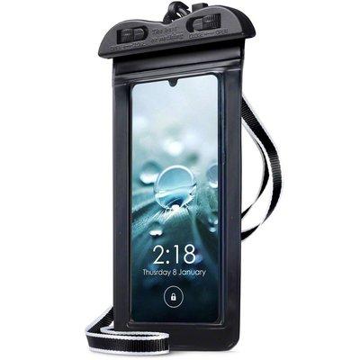 Waterdicht universeel telefoonhoesje, waterproof case, zwart
