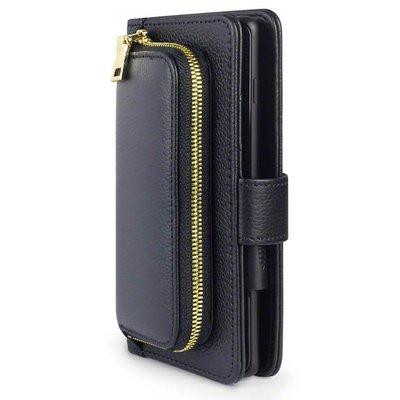 Universeel lederen telefoonhoesje, wallet case, 8 X 15 CM