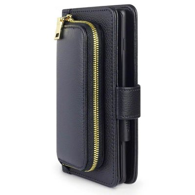 Universeel lederen telefoonhoesje, wallet case, 8,5 X 17 CM
