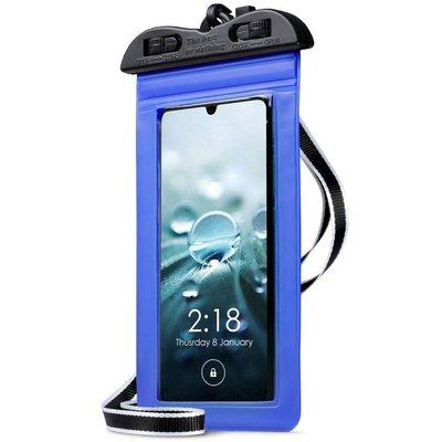 Waterdicht universeel telefoonhoesje, waterproof case, blauw