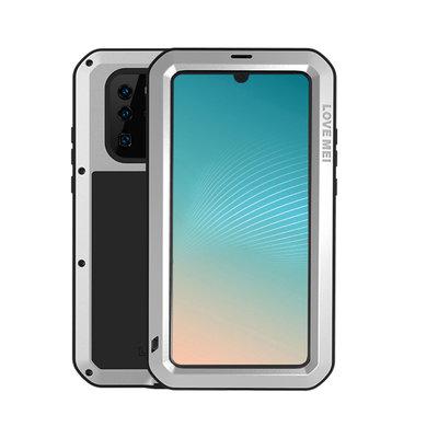 Huawei P30 Pro hoes, Love Mei, metalen extreme protection case, zwart-zilver