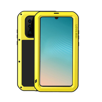 Huawei P30 Pro hoes, Love Mei, metalen extreme protection case, zwart-geel