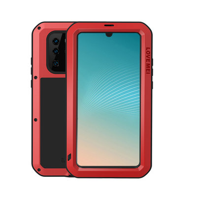 Huawei P30 Pro hoes, Love Mei, metalen extreme protection case, zwart-rood