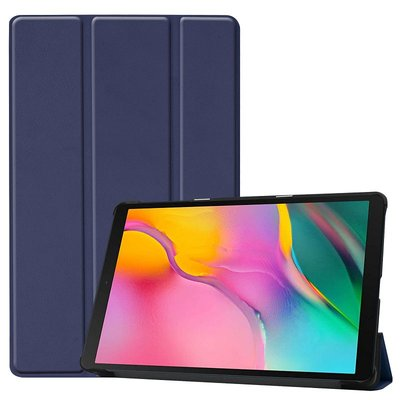 Tablethoes voor Samsung Galaxy Tab A 10.1 (2019), Tri-fold smartcover bookcase, donker blauw