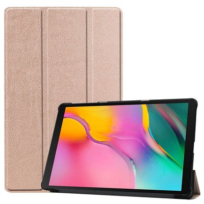 Tablethoes voor Samsung Galaxy Tab A 10.1 (2019), Tri-fold smartcover bookcase, goud