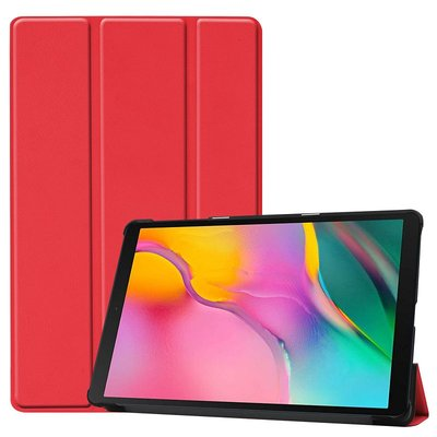 Tablethoes voor Samsung Galaxy Tab A 10.1 (2019), Tri-fold smartcover bookcase, rood