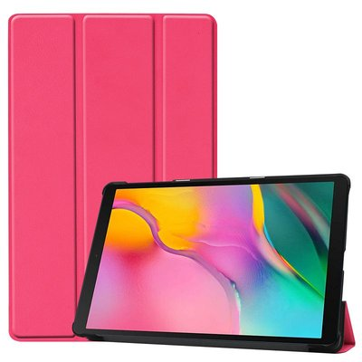 Tablethoes voor Samsung Galaxy Tab A 10.1 (2019), Tri-fold smartcover bookcase, roze