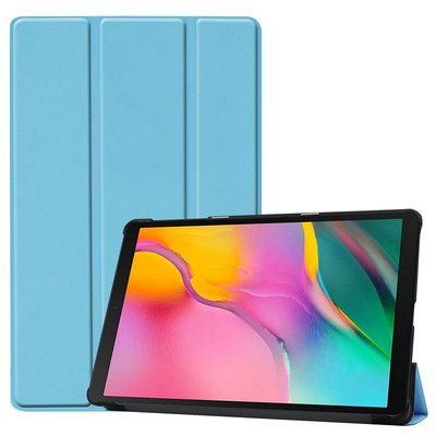 Tablethoes voor Samsung Galaxy Tab A 10.1 (2019), Tri-fold smartcover bookcase, lichtblauw