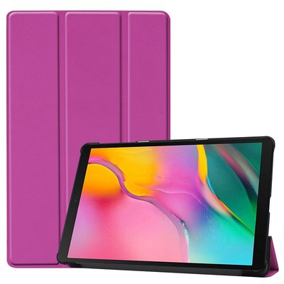 Tablethoes voor Samsung Galaxy Tab A 10.1 (2019), Tri-fold smartcover bookcase, paars