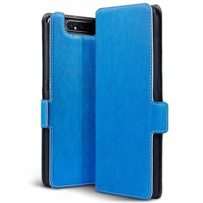 Samsung Galaxy A80 hoesje, 3-in-1 bookcase extra dun, blauw