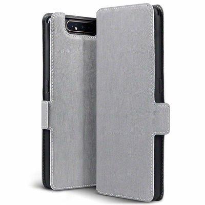 Samsung Galaxy A80 hoesje, 3-in-1 bookcase extra dun, grijs