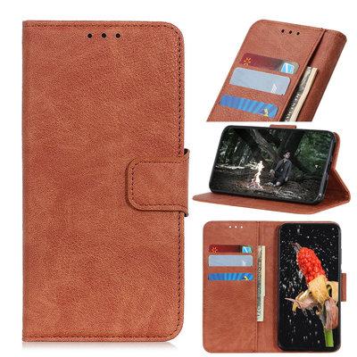 Nokia 4.2 hoesje, 3-in-1 bookcase, bruin