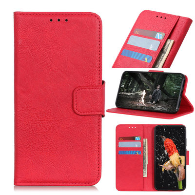 Nokia 4.2 hoesje, 3-in-1 bookcase, rood