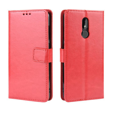 Nokia 3.2 hoesje, 3-in-1 bookcase, rood