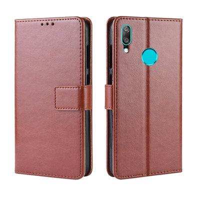 Huawei Y7 (2019) hoesje, 3-in-1 bookcase, bruin