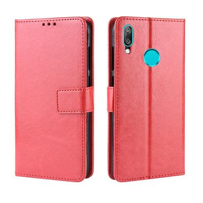 Huawei Y7 (2019) hoesje, 3-in-1 bookcase, rood