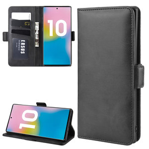 Samsung Galaxy Note 10 Plus hoesje (Note 10+), Luxe 3-in-1 bookcase, zwart