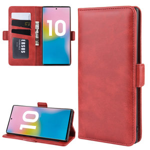 Samsung Galaxy Note 10 Plus hoesje (Note 10+), Luxe 3-in-1 bookcase, rood