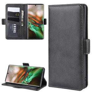 Samsung Galaxy Note 10 hoesje, Luxe 3-in-1 bookcase, zwart