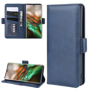 Samsung Galaxy Note 10 hoesje, Luxe 3-in-1 bookcase, donkerblauw