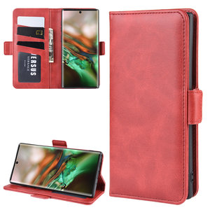 Samsung Galaxy Note 10 hoesje, Luxe 3-in-1 bookcase, rood