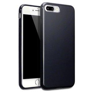 Apple iPhone 7 Plus / iPhone 8 Plus hoesje, gel case, mat zwart