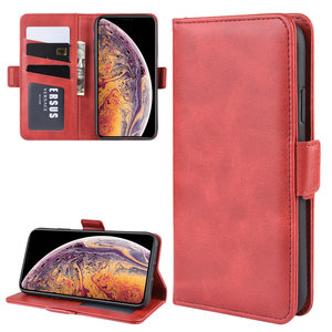 iPhone 11 Pro Max hoesje, Luxe 3-in-1 bookcase, rood