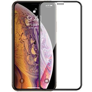 Apple iPhone 11 Pro Max / iPhone XS Max screenprotector, MobyDefend gehard glas screensaver, Zwarte randen