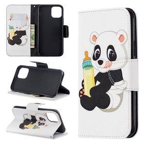 iPhone 11 Pro hoesje, 3-in-1 bookcase met print, baby panda
