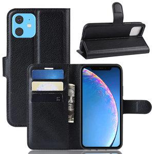 iPhone 11 hoesje, 3-in-1 bookcase, zwart