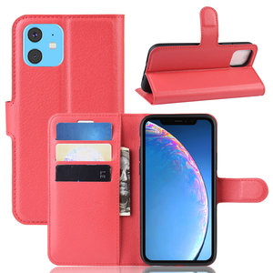 iPhone 11 hoesje, 3-in-1 bookcase, rood