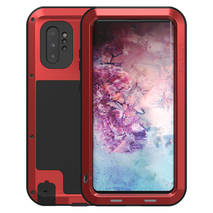Samsung Galaxy Note 10 Plus hoes (Note 10+), Love Mei, metalen extreme protection case, rood