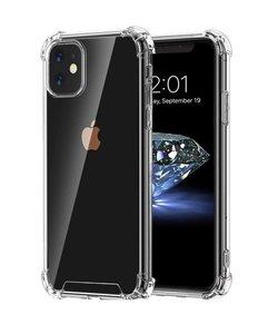 iPhone 11 telefoonhoesje, gel case met verstevigde hoeken, volledig doorzichtig