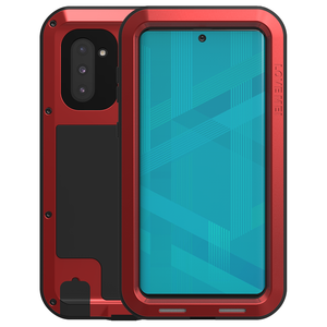 Samsung Galaxy Note 10 hoes, Love Mei, metalen extreme protection case, rood