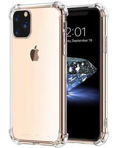 iPhone 11 Pro hoesje, Shock proof gel case met verstevigde hoeken, volledig doorzichtig