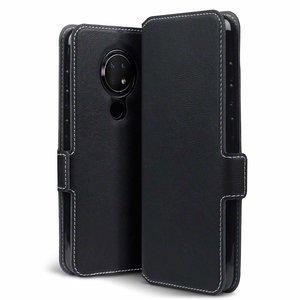 Nokia 6.2 / Nokia 7.2 hoesje, MobyDefend slim-fit extra dunne bookcase, Zwart