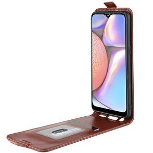 Samsung Galaxy A50 / A30S hoesje, flipcase, bruin