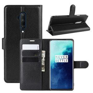 OnePlus 7T Pro hoesje, 3-in-1 bookcase, zwart