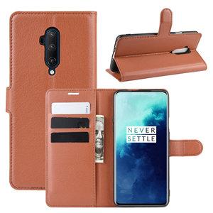 OnePlus 7T Pro hoesje, 3-in-1 bookcase, bruin