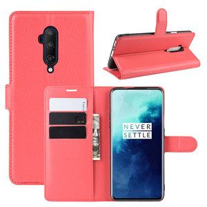 OnePlus 7T Pro hoesje, 3-in-1 bookcase, rood