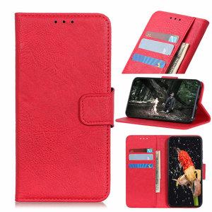 Nokia 6.2 / Nokia 7.2 hoesje, 3-in-1 bookcase, rood