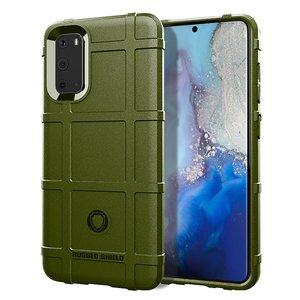 Samsung Galaxy S20 hoesje, Rugged shield TPU case, Groen