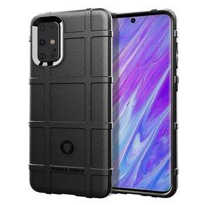 Samsung Galaxy S20 Plus (S20+) hoesje, Rugged shield TPU case, Zwart