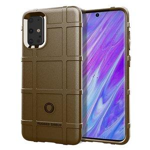 Samsung Galaxy S20 Plus (S20+) hoesje, Rugged shield TPU case, Bruin