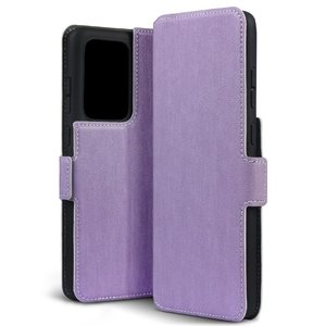 Samsung Galaxy S20 Ultra hoesje, MobyDefend slim-fit extra dunne bookcase, Paars